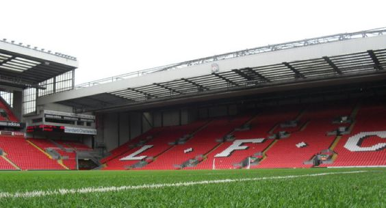 World famous Spion Kop at Anfield