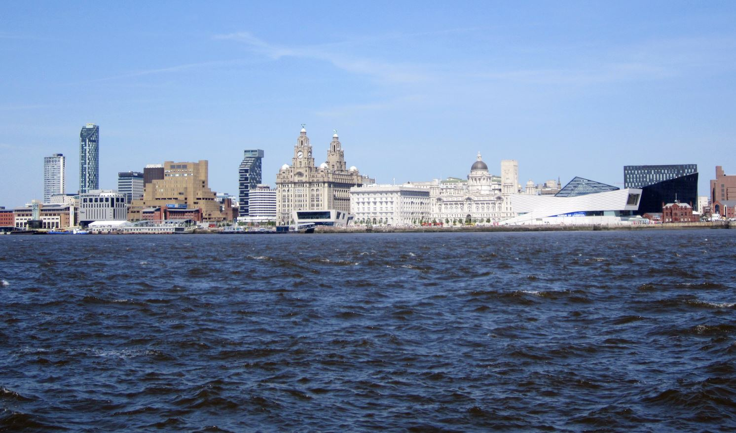 Viewsof Liverpool across the River Mersey