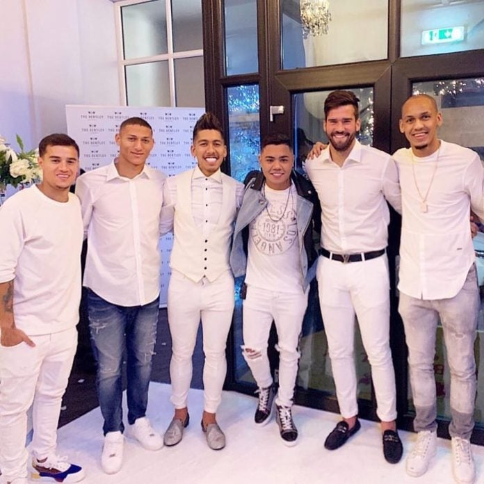 roberto firmino celebrates wife's birthday at city centre venue